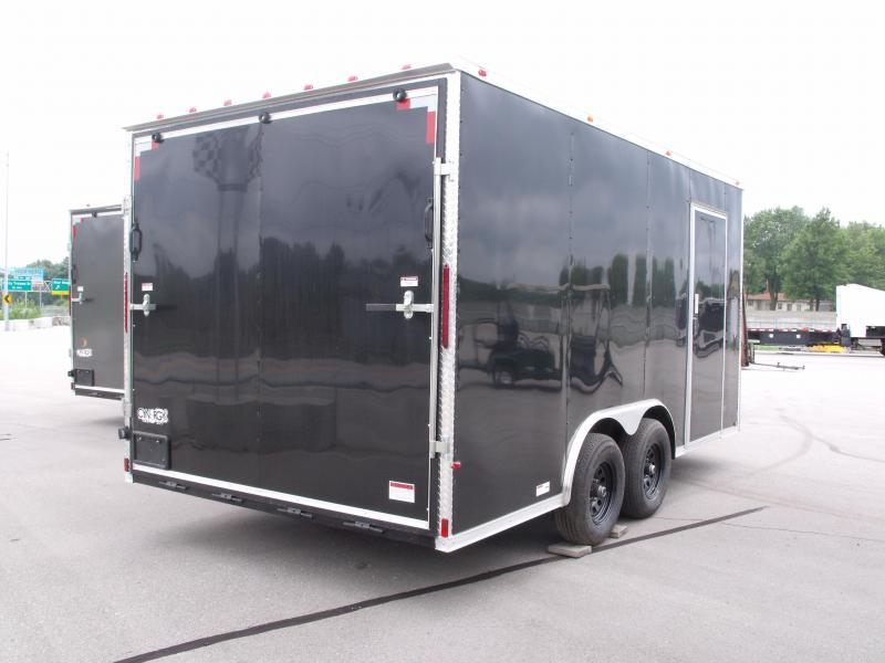 Enclosed Trailer 8.5 X 16  Ramp 7' Interior BLACK In Color Ramp Door  9990  GVWR