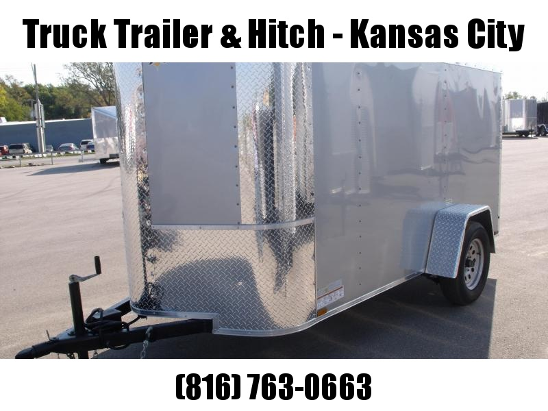 Enclosed Trailer 5 X 10 Ramp  Silver Mist In Color ALL TUBE Construction
