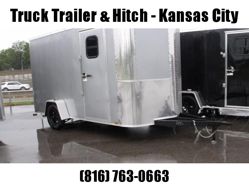 Enclosed Trailer 7 X 12 RAMP  DOOR 2990 GVW   7'   Height  Silver Mist   In Color