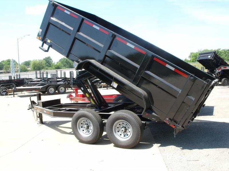 Dump Trailer  83 X 14  I-Beam Type 14000 Gvw Tarp Included 20K Inverted Scissor Hoist  Black In Color