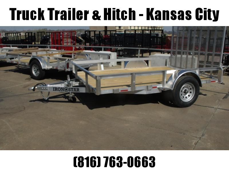 Aluminum 83 X 10  Utility Trailer With Dual Action Ramp