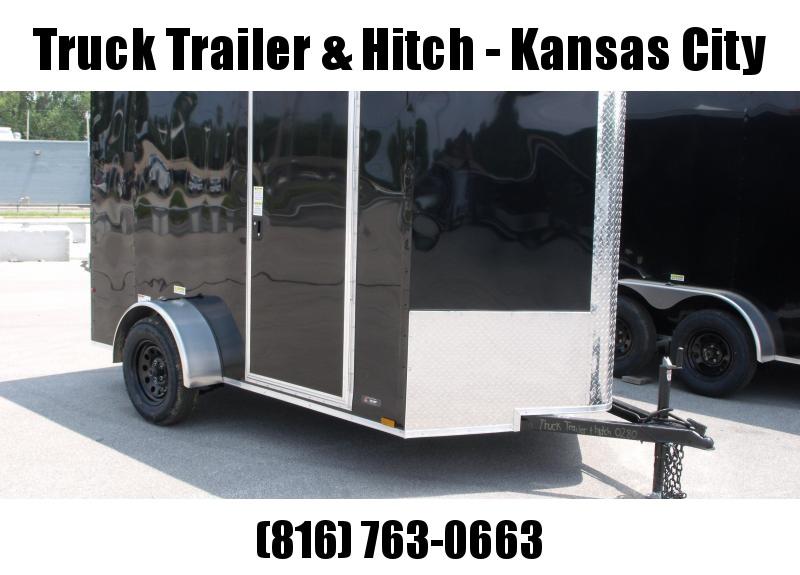 Enclosed Trailer 6 X 10 Ramp    6'  Interior   Black  In Color