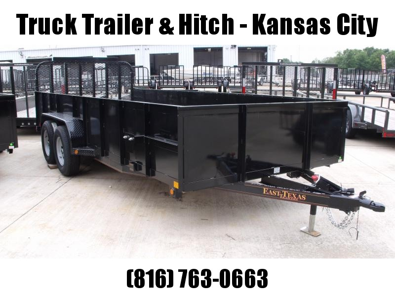 High-Wall Solid Sides Landscape Trailer 83 X 18  Ramp 7000 GVW