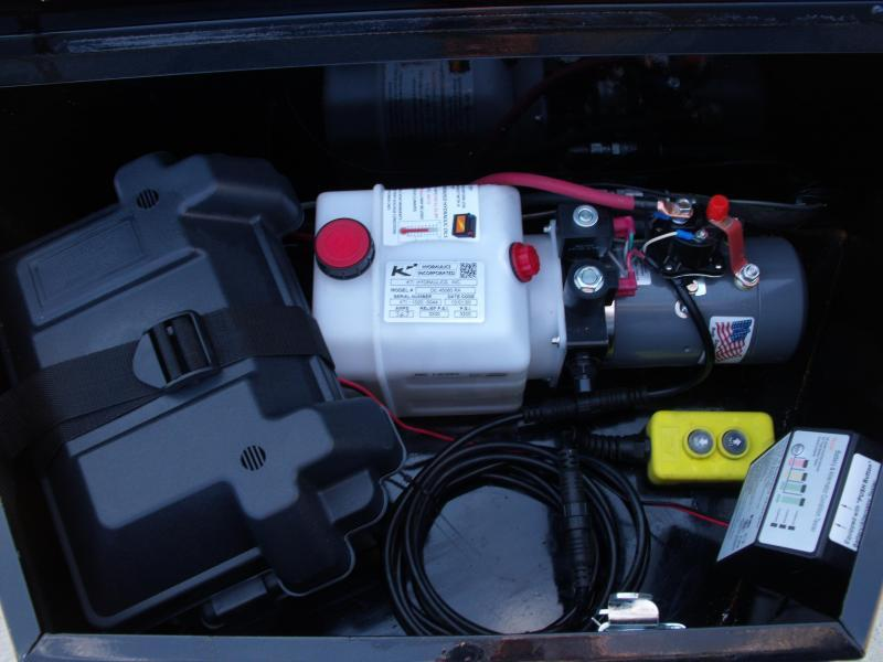 Dump Trailer 5 X 10  Spreader Gate 6000 GVW  Electric Brakes Wheel Brakes Stall Dump Trailer