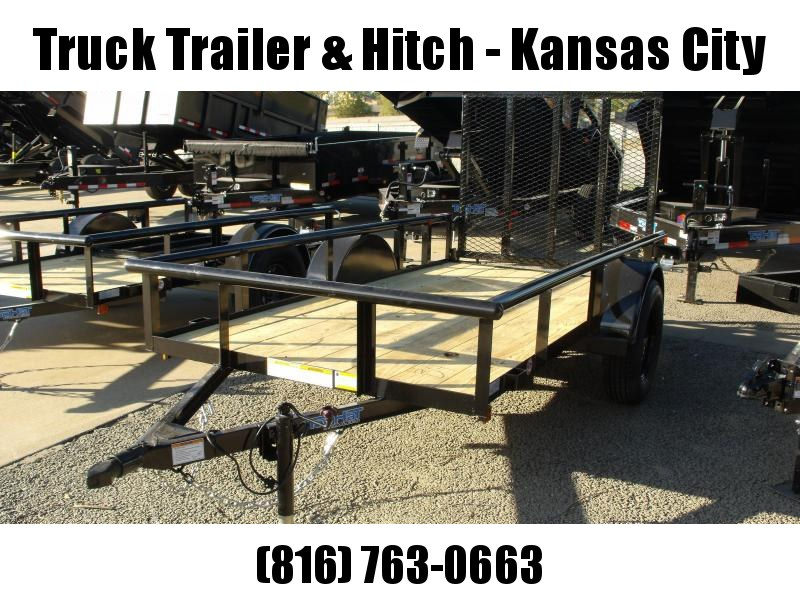"""TopHat 5 X 10 Pipe Rail Top  Utility Trailer 48"""" X Lay-N Tailgate"""