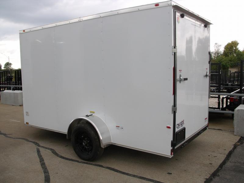 """Enclosed Trailer 6 X 12 Ramp  6'6""""  Interior WHITE  In Color  All Tube Construction"""