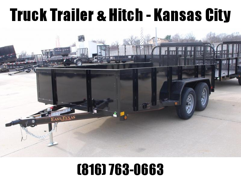 High-Wall Solid Sides Steel Deck Landscape Trailer  83 X 14  Ramp 7000 GVW