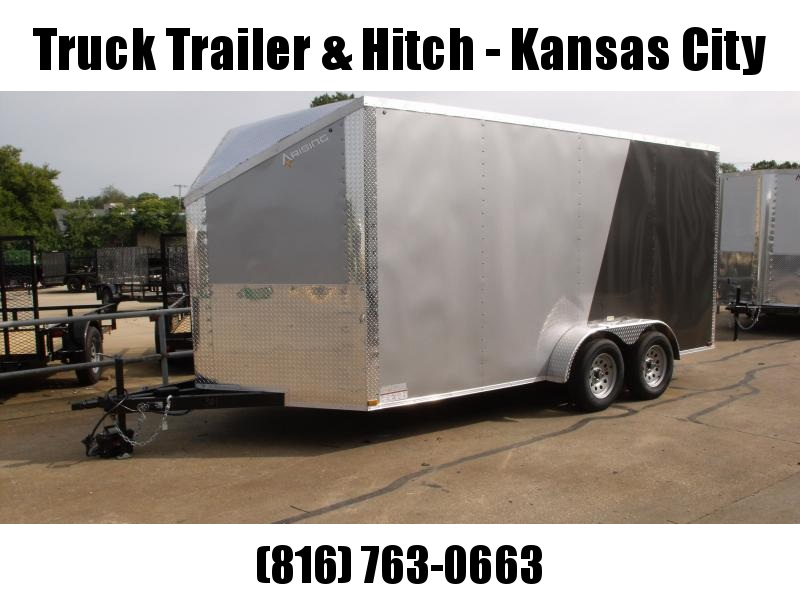 Enclosed Trailer Wedge Nose  7 X 16 Ramp 7' Interior Height   Two/Tone In Color Silver Mist  Front/Charcoal Rear  ALL Tube Construction