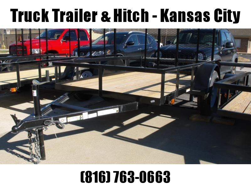 Utility Trailer 5 X 8 Wood Deck  Trailer With  Ramp 2990 Axle