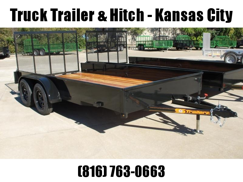 "Utility Trailer 82"" x 14' Smooth Side Gate  7000 GVW 4 Wheel Brakes"