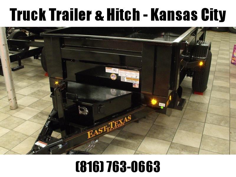 Stall Dump Trailer 5 X 10  Spreader Gate 6000 GVW 4 Electric Brakes Wheel Brakes Stall Dump Trailer