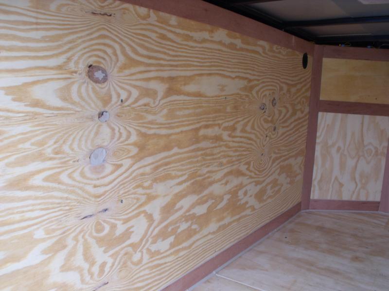 Enclosed Trailer 4 x 8 Enclosed Cargo Trailer Barn Door  Silver In Color