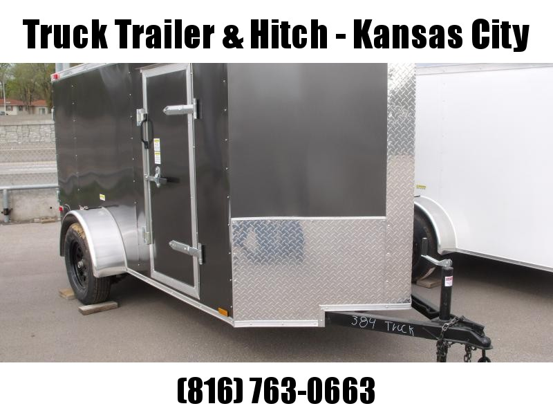 Enclosed Trailer 5 x 10  Ramp Charcoal In Color All Tube Construction