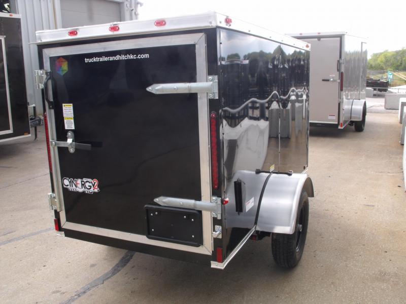 Enclosed Trailer 4 x 8 Enclosed Cargo Trailer Barn Door  Black In Color Tube Construction