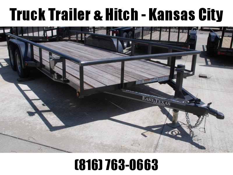 Utility Trailer 83 X 18 Pipe Rail Top Slide Out Ramps Gray  In Color