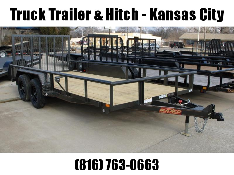 Utility Trailer ATV Trailer 83 X 16 Pipe Rail Top 4 Axle  Brakes 7000 GVW