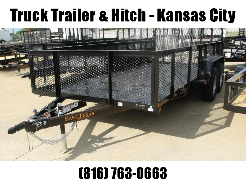 High-Wall  Metal Trailer Landscape Trailer 83 X 16 Dove  Ramp 7000 GVW
