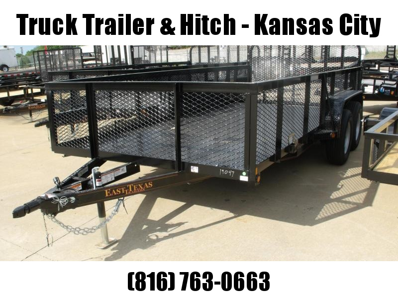 High-Wall  Metal Trailer Landscape Trailer 83 X 16 Dove  Ramp 7000 GVW
