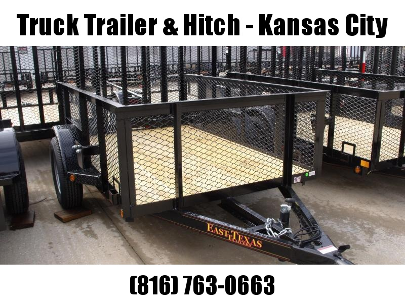 High-Wall Trailer 5 X 8 Wood Deck  Steel Mesh Sides 2990 Axle