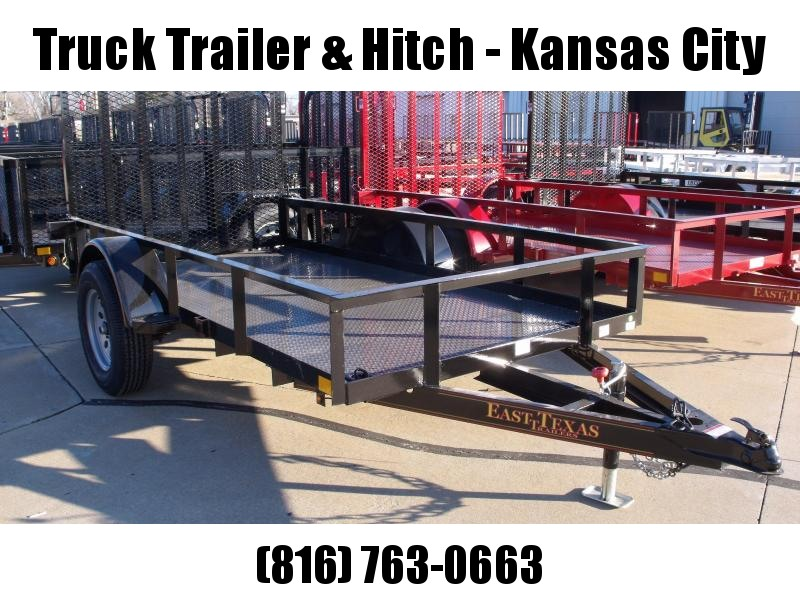 Utility Trailer 5 x 10 BLACK IN COLOR  Steel Deck Spring Assisted Ramp  2990 # Axle