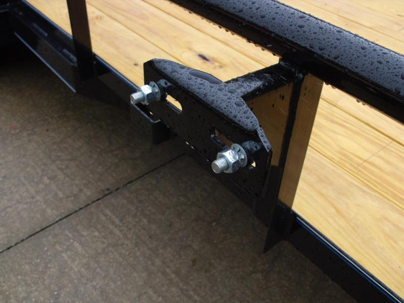 Utility Trailer Pipe Rail Top 83 X 16  HD Gate 7000 GVWR