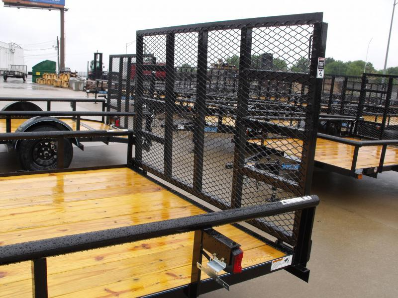 "Utility Trailer 83"" x 14    Pipe Rail Top  Rear   Gate 2990 Axle"