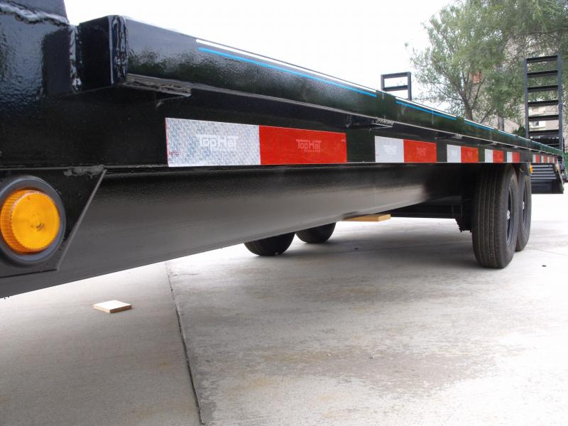 Deck Over Trailer 102 X 24 Self Cleaning Dove Ramps 14000 GVWR (102 X20+4' Metal Dove)
