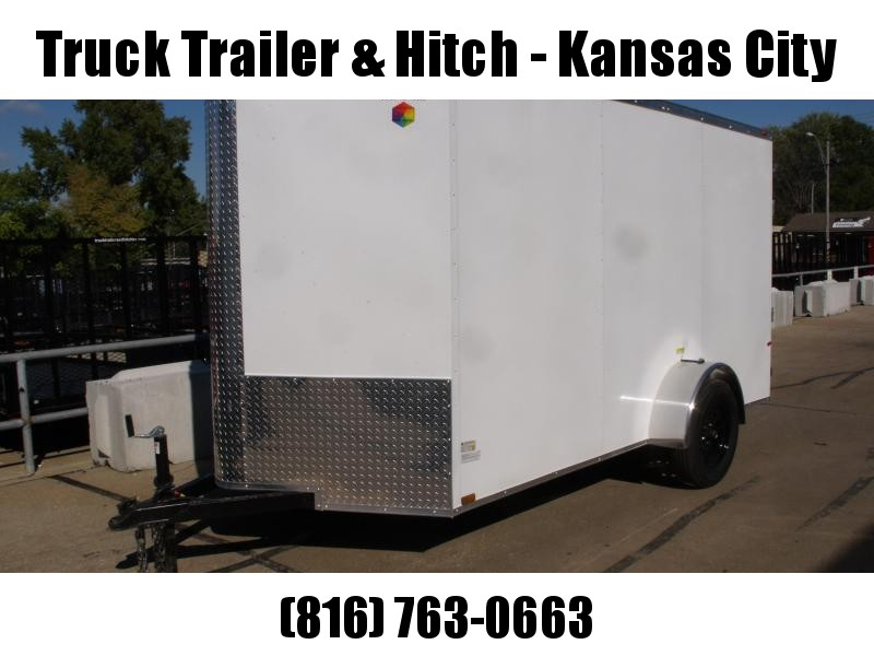 """Enclosed Trailer 6 X 12 Ramp  6' 3""""  Interior White In Color  All Tube Construction"""