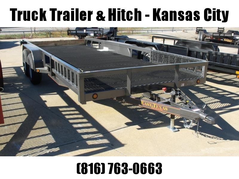ATV Trailer Utility Trailer 83 X 18 Mesh Floor Number 6 Very Stiff 7000 GVWR Charcoal Gray In Color