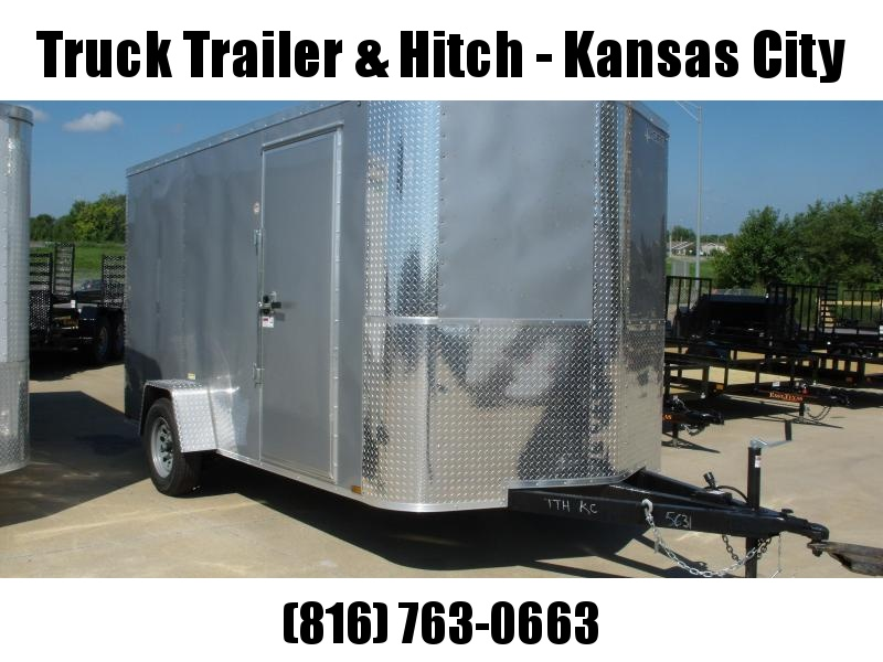"Enclosed Trailer 7 X 12 RAMP  DOOR 2990 GVW   6' 6""   Height  Silver  In Color"