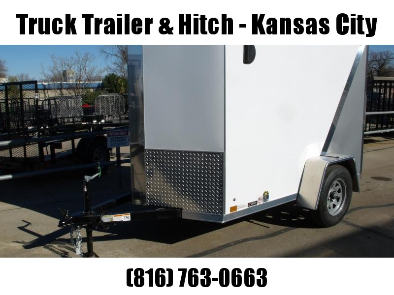 "Enclosed Trailer 5 x 8  Ramp 5' 6"" Interior Two Tone In Color White Front/ Silver Mist Rear"