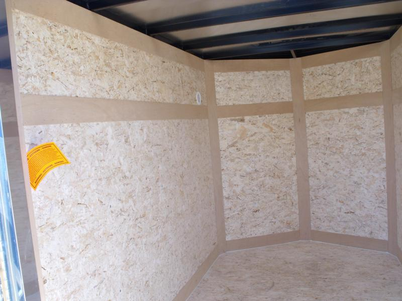 """Enclosed Trailer 5 x 8  Ramp 5' 6"""" Interior Two Tone In Color White Front/ Silver Mist Rear"""