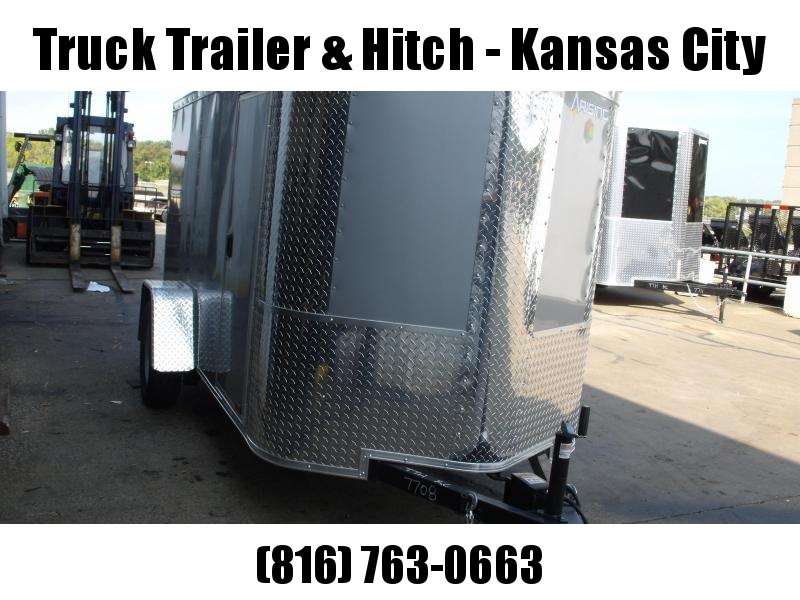 Enclosed Trailer 5 X 10 Ramp  Color SILVER MIST  In Color ALL TUBE Construction 5'  Interior Fits in the 7' garage