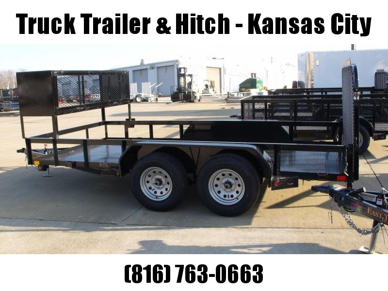 Utility Trailer  83 X 14  Metal Deck 4 WL Brakes With Tube Ramp  Landscape Cage Installed    7000 GVW Brakes