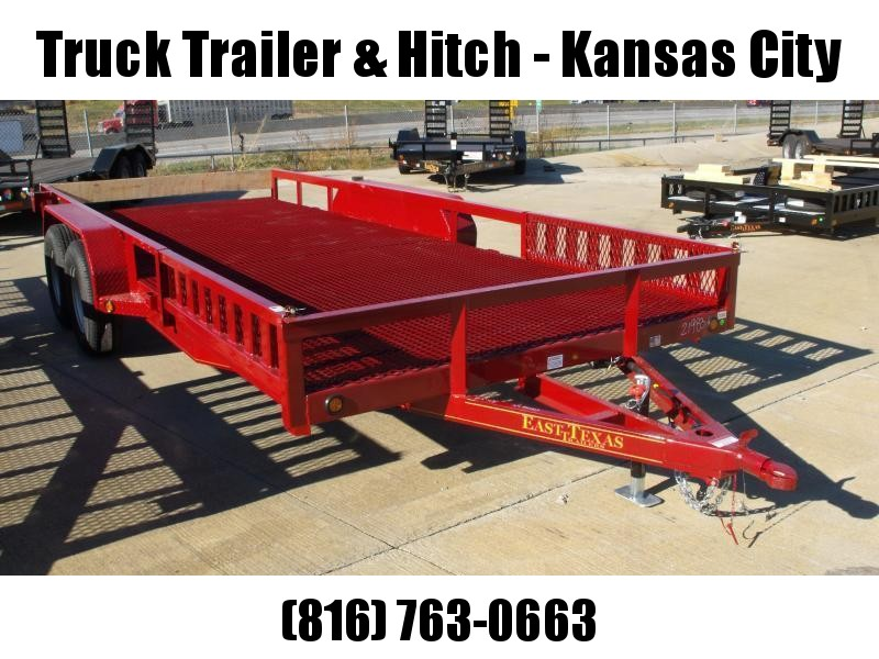 ATV Trailer 83 X 16 Mesh Floor Number 6 Very Stiff 7000 GVWR  Candy Apple Red