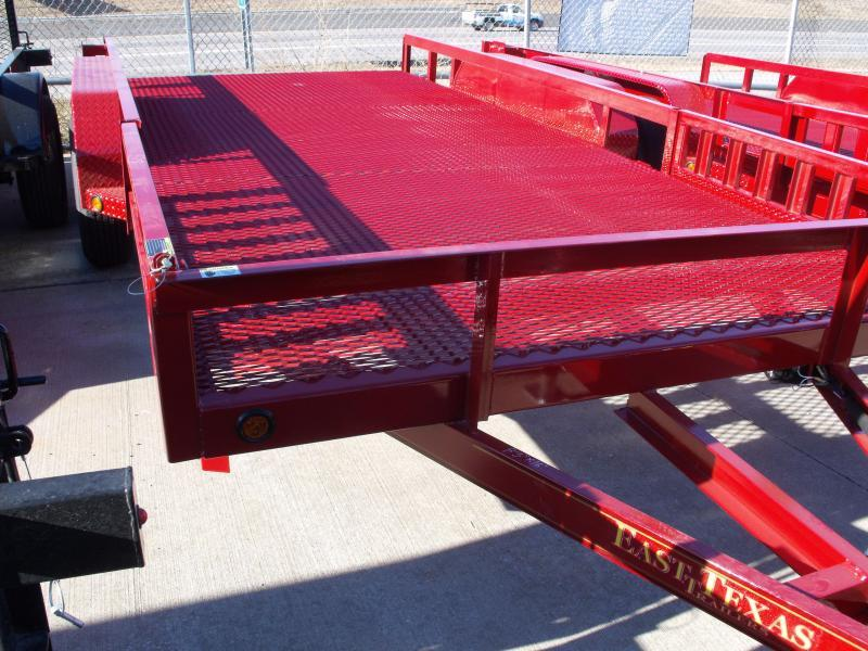 ATV Trailer 83 X 16 Mesh Floor Number 6 Very Stiff 7000 GVWR  Candy Apple Red