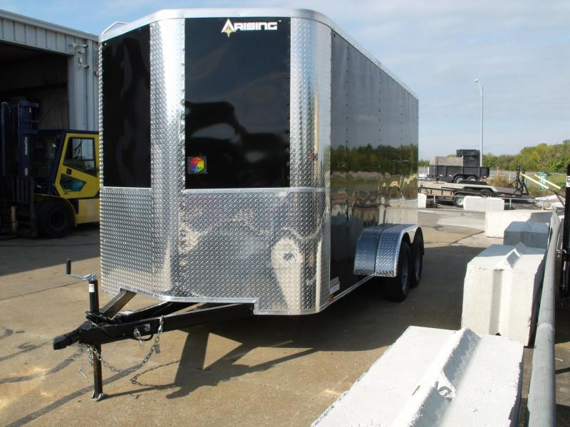 Enclosed Trailer 7 X 14  Ramp Black In Color 7000 GVW  7'  Interior Height