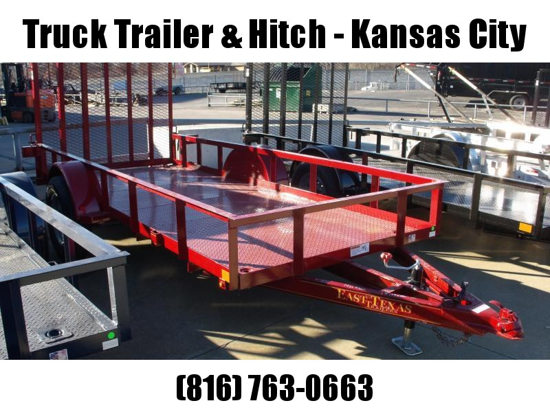Utility Trailer 5 X 12 Red  In Color Spring Assisted Ramp 2990 Axle