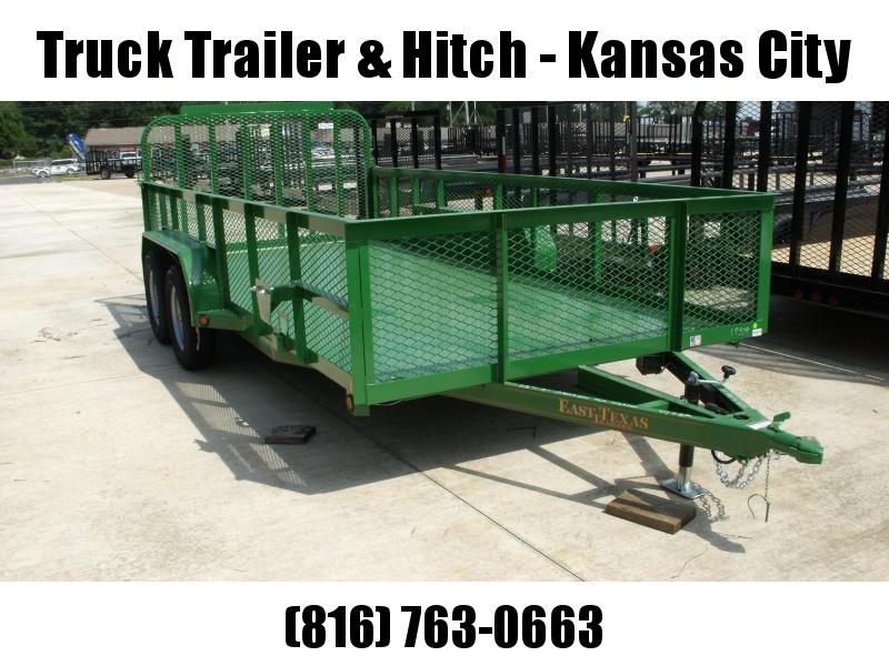 High-Wall  Metal Trailer Landscape Trailer 83 X 16  Ramp   John Deer Green   7000 GVW