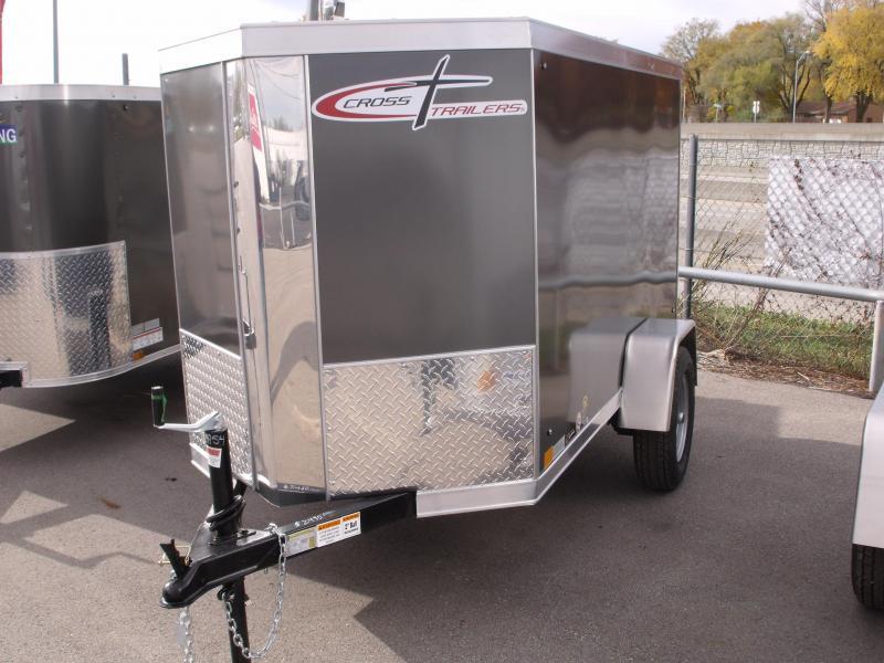 Enclosed Trailer 4 X 8 V-Nose Barn Door  Charcoal In Color 2000 LB Axle