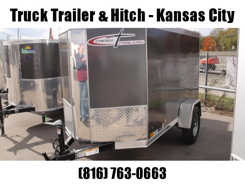 Enclosed Trailer 4 X 8 V-Nose Barn Door  Charcoal In Color 2000 LB Axle