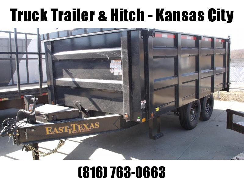 "Deck Over Dump Trailer 96"" X 14'  High Sides 4'  14000 GVWR  20K Inverted Scissor Hoist"