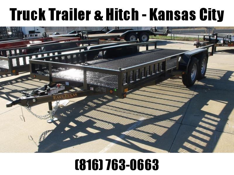 ATV Trailer Utility Trailer 83 X 18 Mesh Floor Number 6 Very Stiff 7000 GVWR Black  In Color