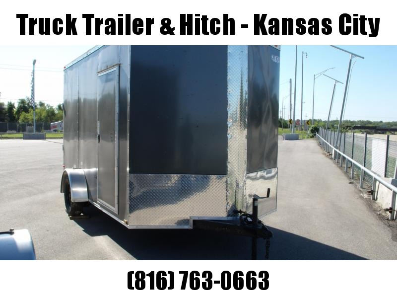 Enclosed Trailer 7 X 12 Ramp  7'  Interior Electric Brakes 3500 LB Axle Charcoal  In Color  All Tube Construction