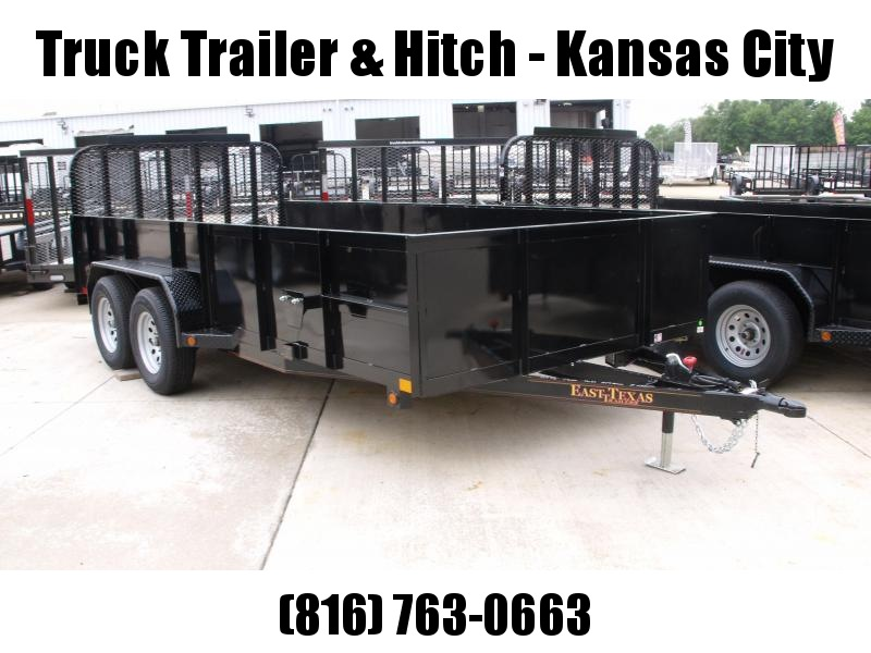 High-Wall Solid Sides Landscape Trailer 83 X 16  Ramp 7000 GVW