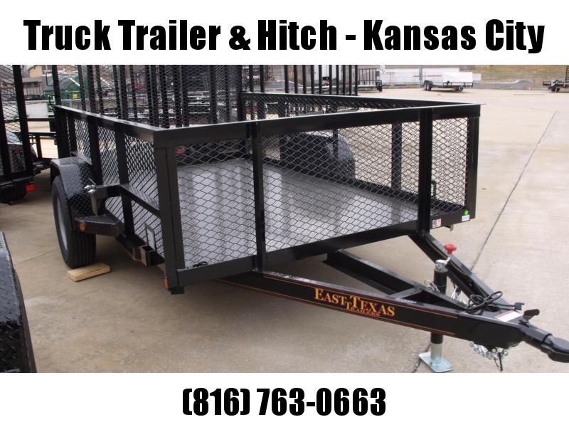 High-Wall Landscape Trailer 6 X 10 Metal Deck Spring Assisted Gate  Black  In Color