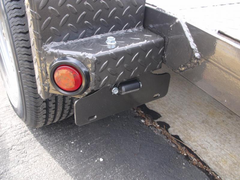 83 X 18 Dove  Metal Deck Car Hauler 7000 GVW 4 WL Brakes Ramps Charcoal Gray   In Color