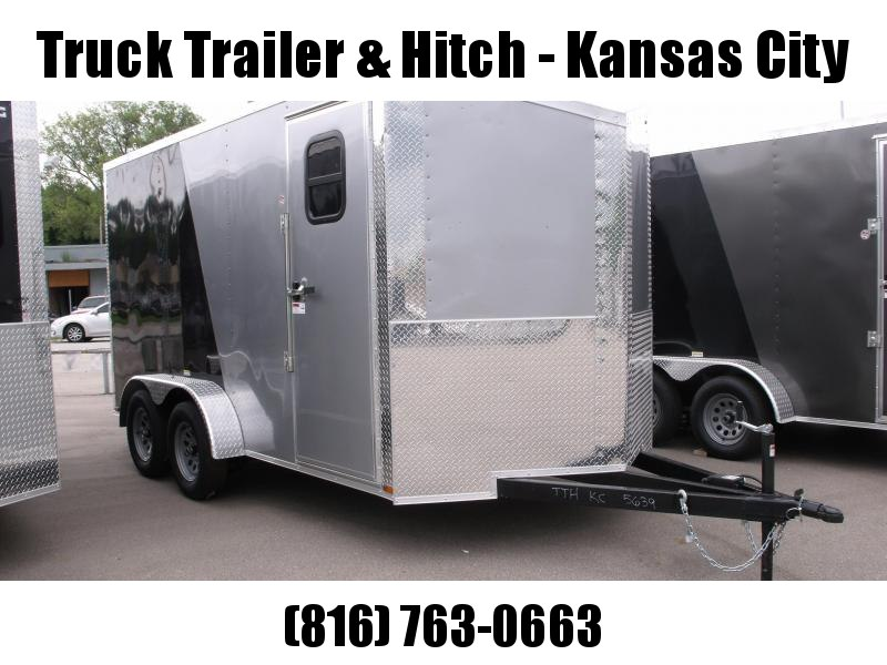 Enclosed Trailer Wedge Nose  7 X 14 Ramp 7' Interior Height   Two/Tone In Color Silver Mist  Front/Charcoal Rear  ALL Tube Construction