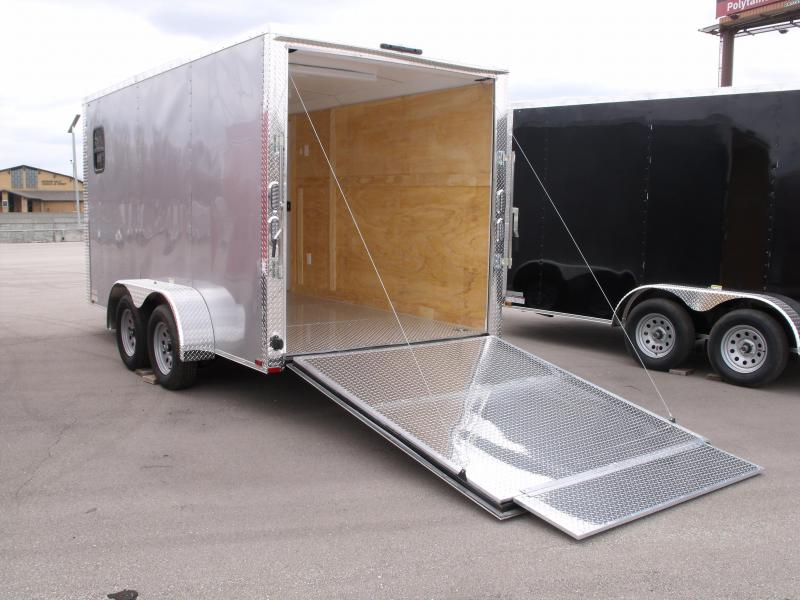 Enclosed Trailer 7 X 14 Ramp 7' Interior Height  Silver Color ALL Tube Construction  30 Amp Service Insulated Trailer