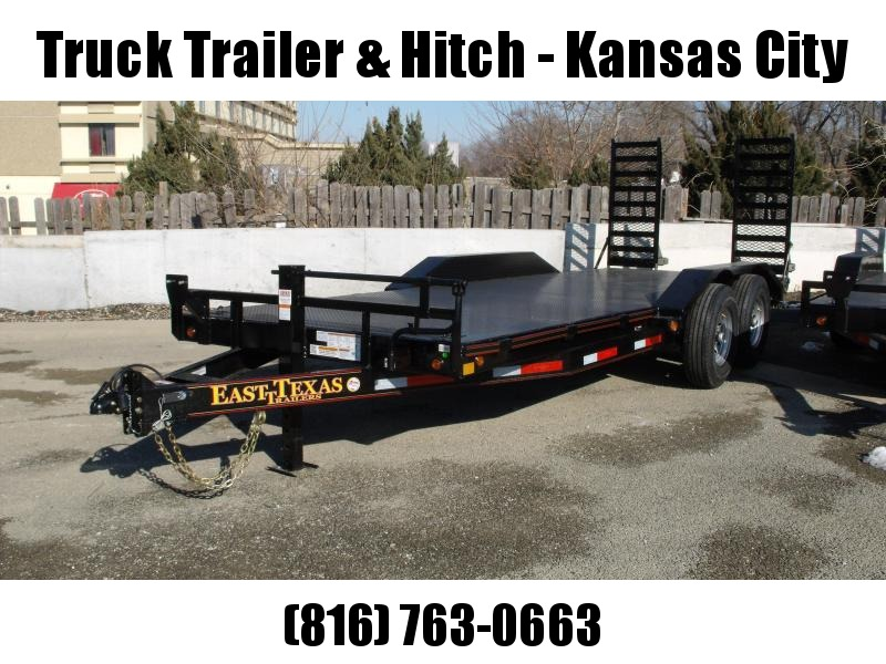 Equipment Trailer - Car Hauler 83 X 20  Metal Trailer   Combo Ramps Covered With #6 Mesh  14000 GVW